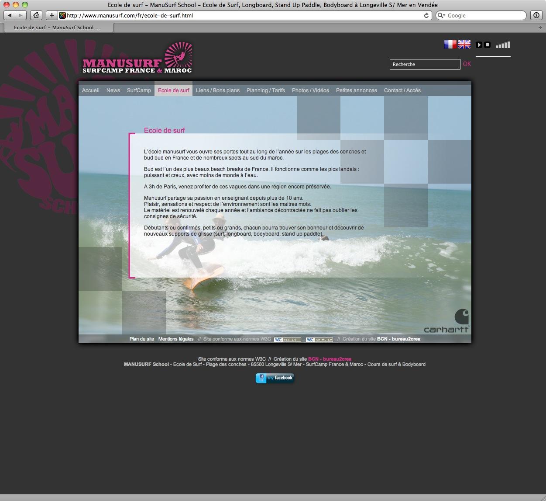 ManuSurf School - Ecole de Surf - bureau2crea