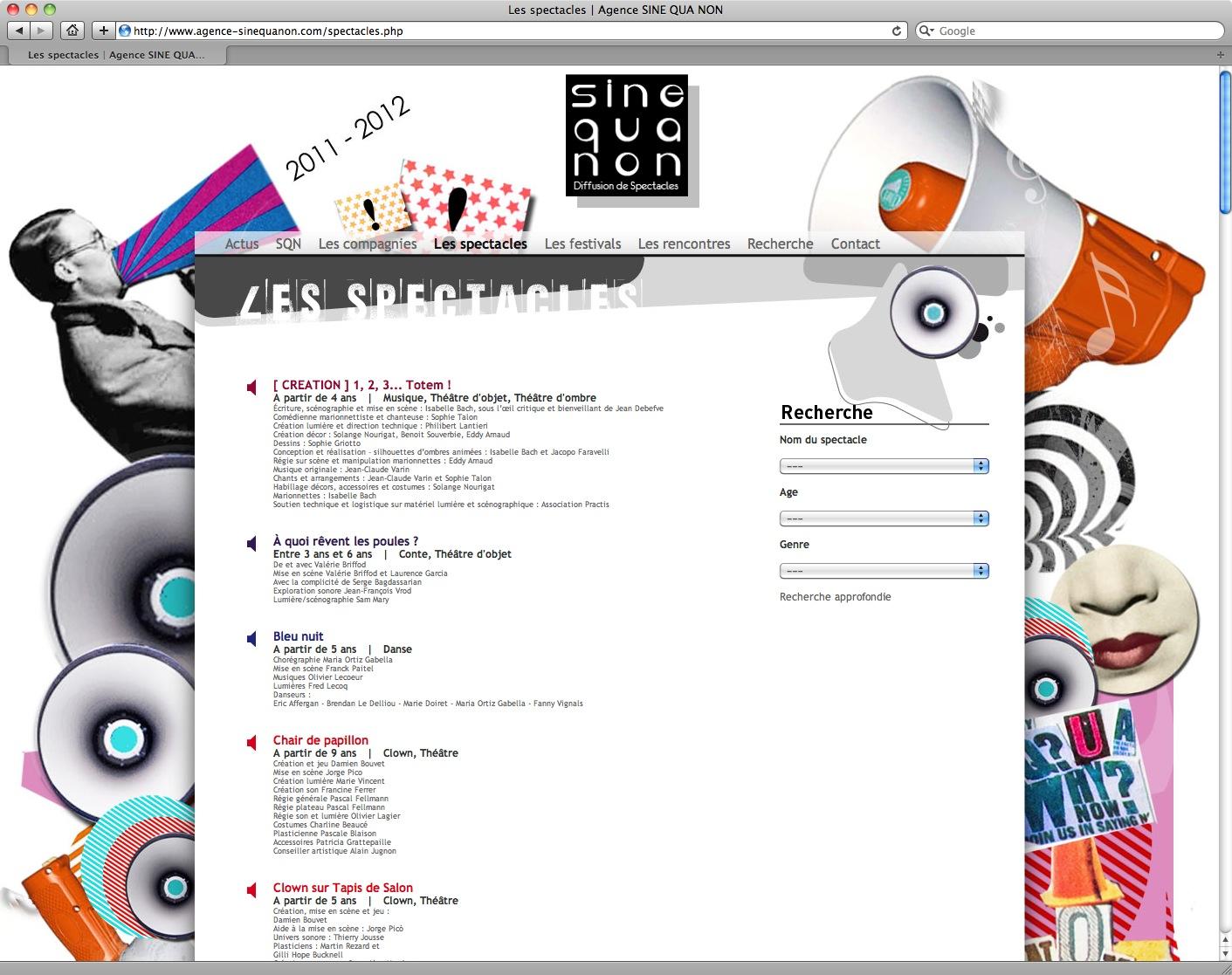 Agence SINE QUA NON - 2011/2012 - bureau2crea